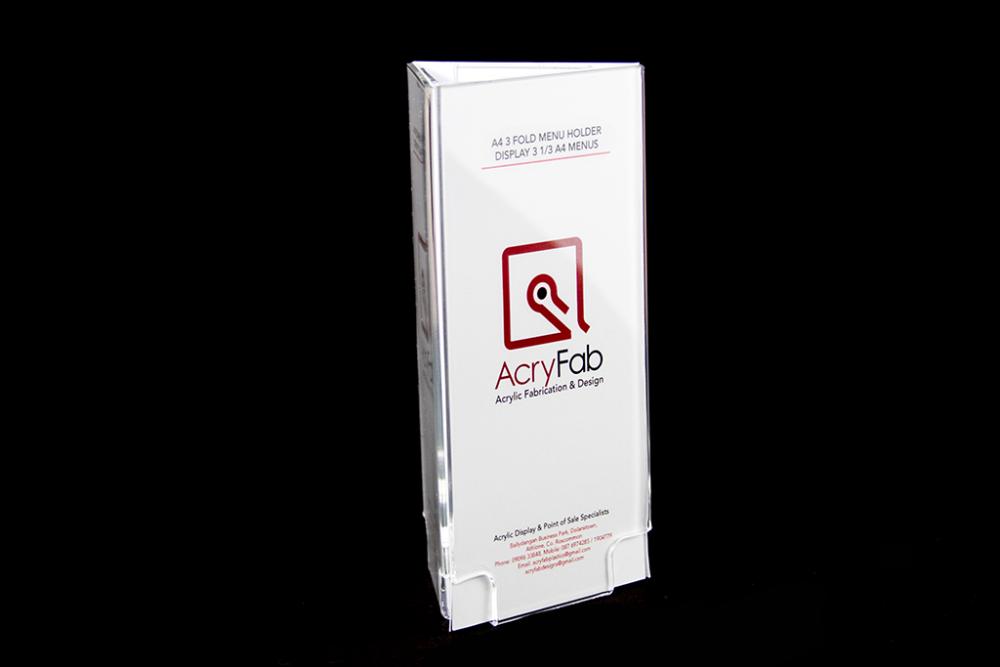 A4 Fold Menu Holder Display Trifold A4 Menus