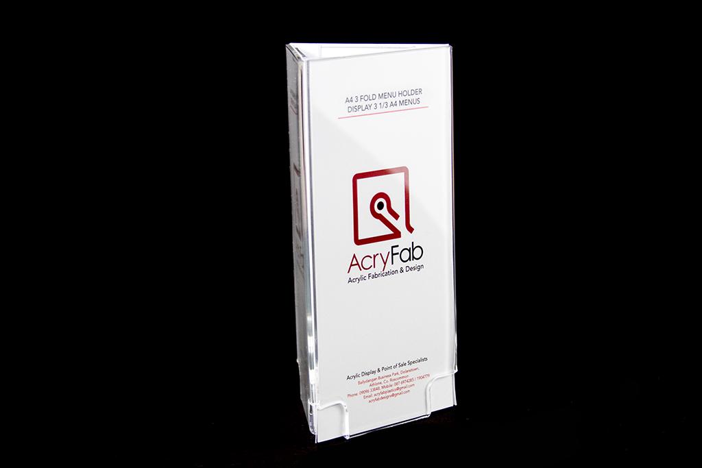 1 3 a4 a5 3 fold free stand menu holder acryfab plastics