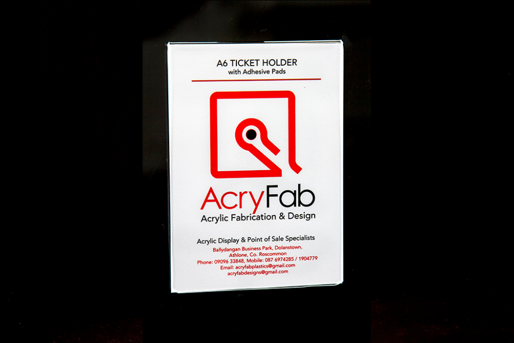 A6 Ticket Holder with Adhesive Pads